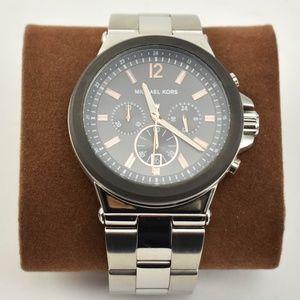 MICHAEL KORS Stainless Logo Chronograph Watch